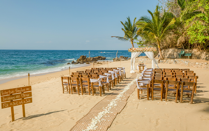 Las Caletas Puerto Vallarta Beach Wedding Ceremony Venue
