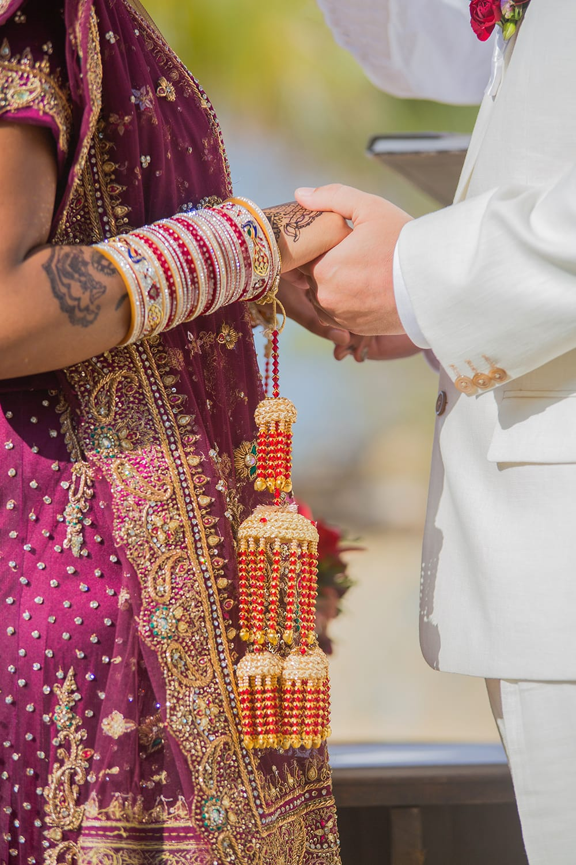 Hindu wedding ceremony held at Adventure Weddings beach wedding venue