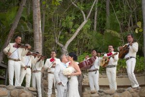 Live band serenading couple on wedding day - destination wedding by Adventure Weddings