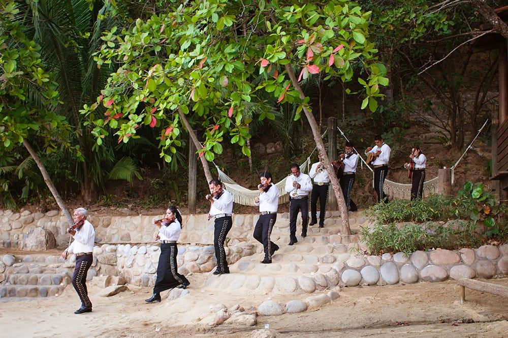 Mariachi band entering wedding ceremony - Adventure Weddings