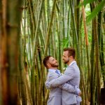Same sex destination wedding captured by professional photographers with Adventure Weddings