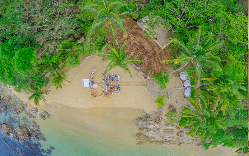 Las Caletas Private Beach Wedding Ceremony