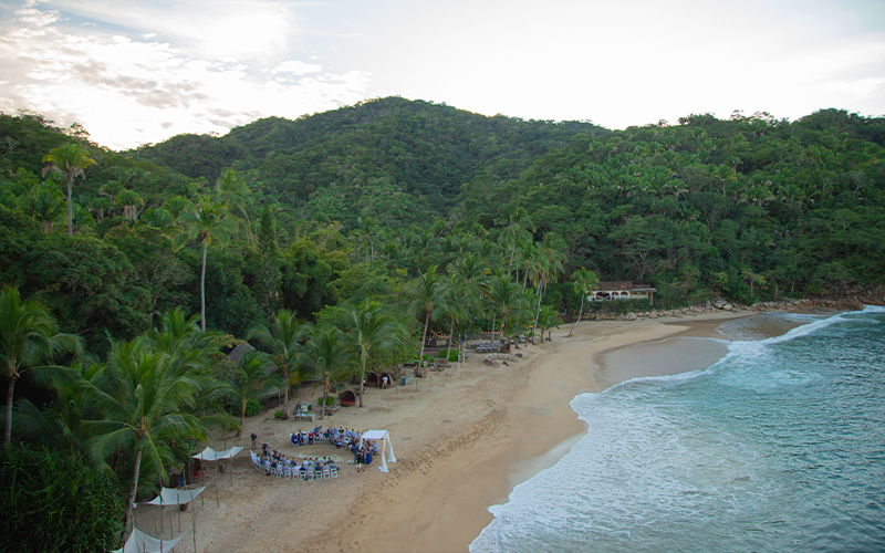 Majahuitas Private Secluded Beach Wedding Venue
