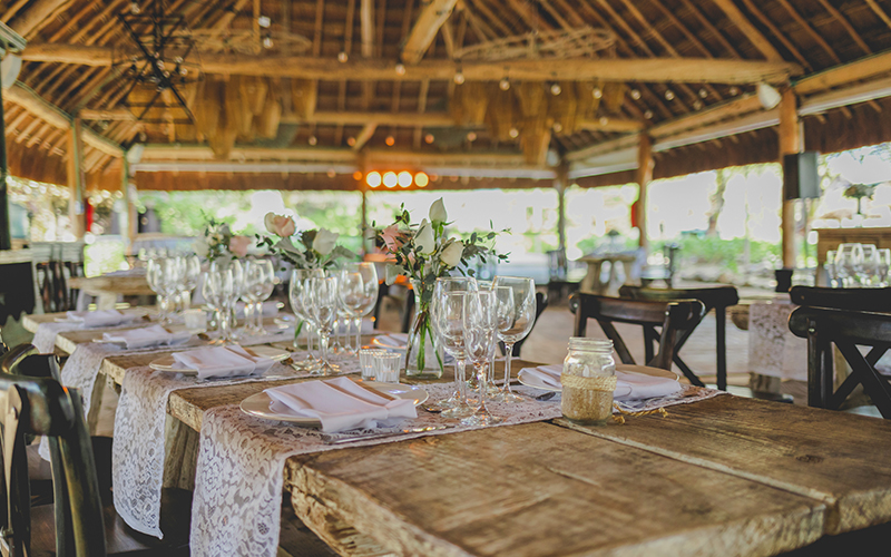 Punta Venado Romantic Wedding Reception Decor