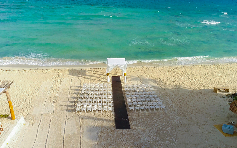 Cancun Wedding Ceremony on the Beach