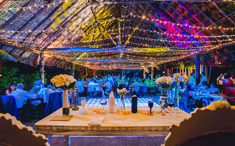 Cancun Beach Wedding Reception Decor