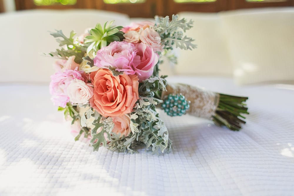 Classic and colourful wedding bouquet by Adventure Weddings' destination wedding florist