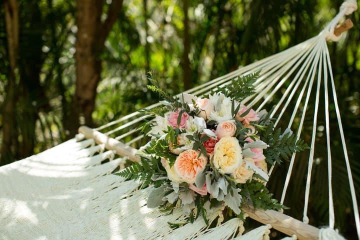 Bouquet on a hammock