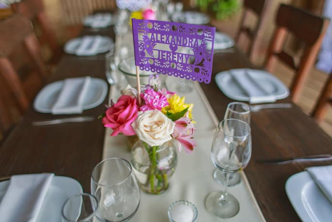 Flower Centerpieces with Mexico Details