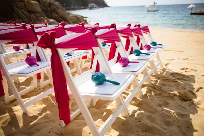 Colorful Maracas for Mexico Wedding