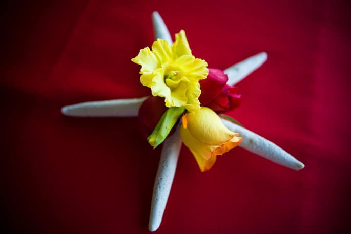 Tropical Boutonniere for Beach Wedding