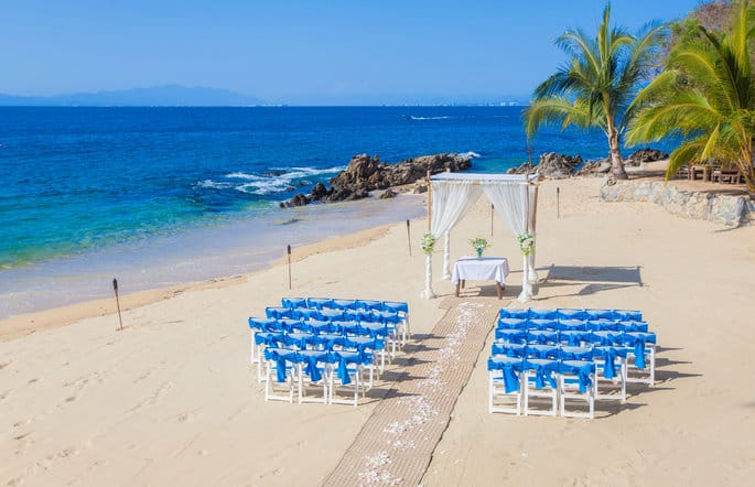 Beachside Wedding Ceremony Set Up