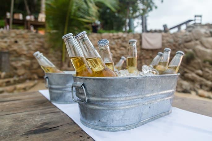 Corona Beer Station for Mexico Destination Wedding