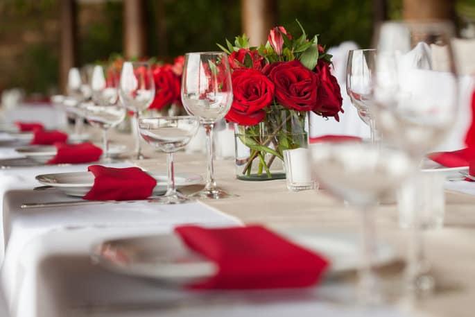 Valentines Day Themed Wedding Decor