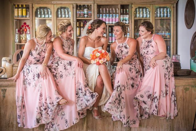 Bridal Party Dresses for Beach Wedding in Mexico
