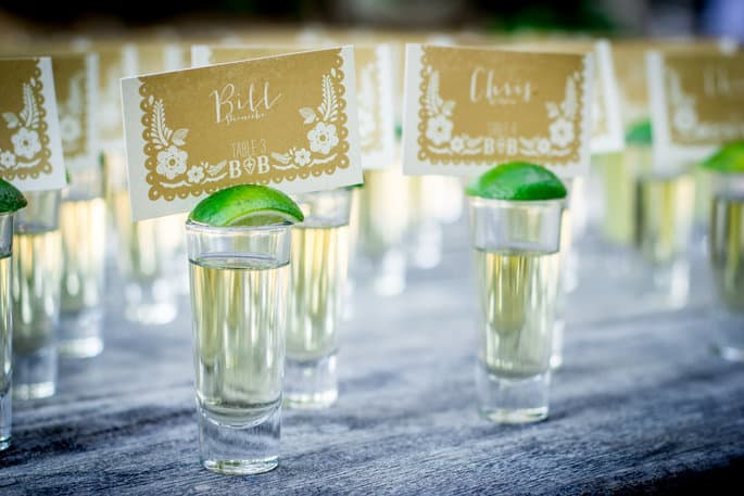 Tequila Shots for Mexico Wedding
