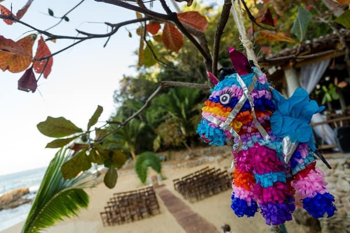 Piñatas for Mexico Wedding
