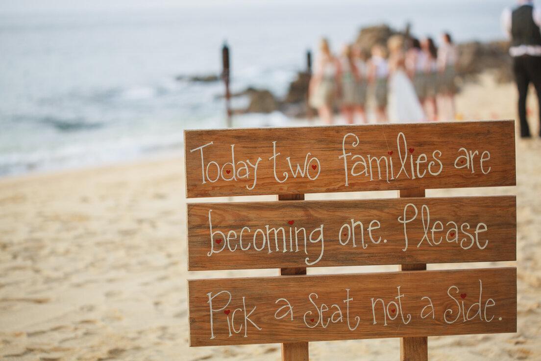 Uniting families at a destination wedding