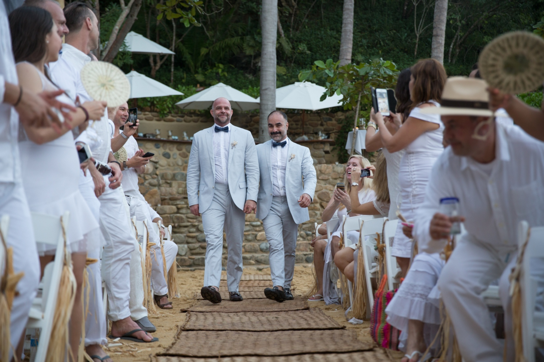 Gay wedding ceremony in Mexico