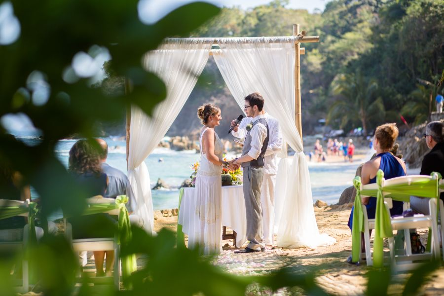 Small Ceremony as Part of Barefoot Package at Las Caletas