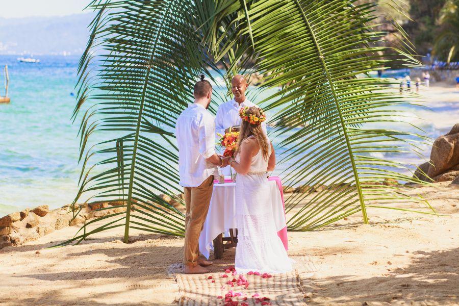 Beach Ceremony as Part of Barefoot Package at Las Caletas in Puerto Vallarta