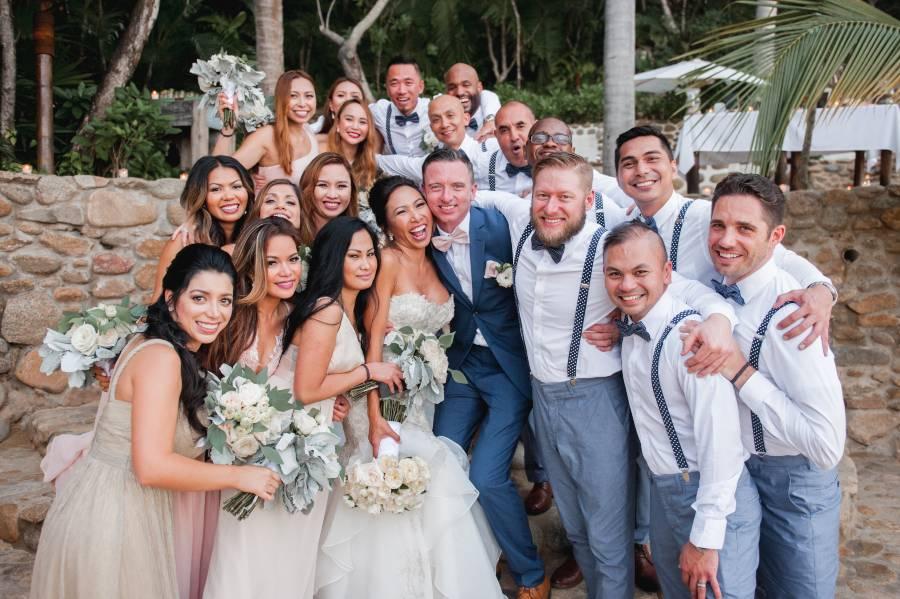 Bridal Party at Las Caletas Destination Wedding Venue Planned with the Premier Package