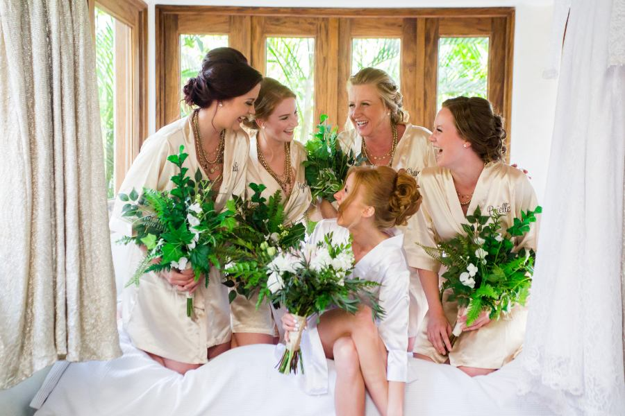 Bridal Party Getting Ready at Las Caletas with the Premier Package